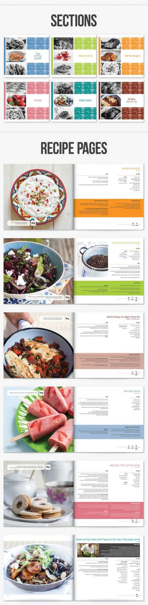 recipe book graphic design print