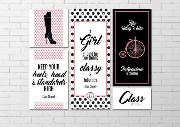 branding logo design class style brand board
