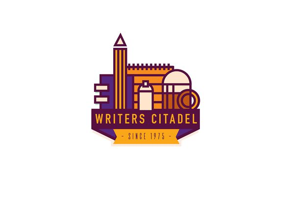 beer writing logo writers citadel branding