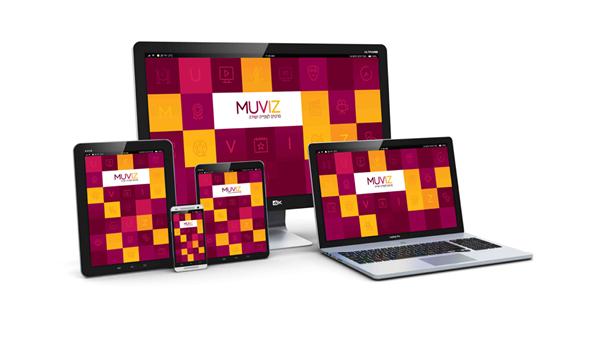 MUVIZ VOD branding logo design
